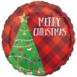 FESTIVE CHRISTMAS TREE PLAID STANDARD S40 PKT