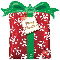 "CHRISTMAS PRESENT SHAPE P30 PKT (25"" x 27"")"