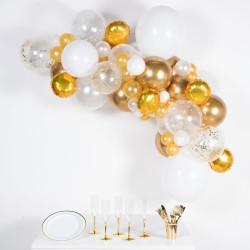 GOLD WHITE DIY GARLAND BALLOON KIT (CONTAINS 66 BALLOONS)