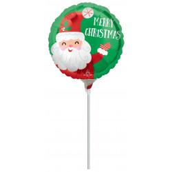"SMILEY SANTA SATIN CHRISTMAS 9"" A15 FLAT"