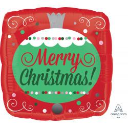 "ORNAMENTS MERRY CHRISTMAS 9"" A15 FLAT"