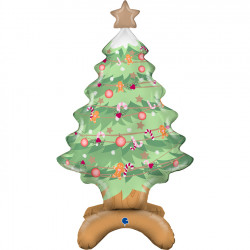 "CHRISTMAS TREE STANDUP SHAPE 38"" PKT"