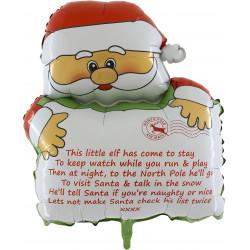 "* CHRISTMAS SANTA HOLDING PERSONALISED LETTER 33"" SHAPE PKT"