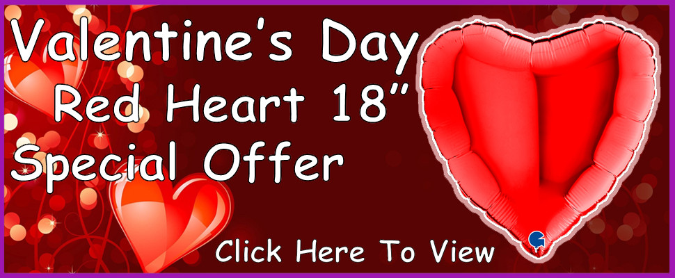 """Valentine's Day Red Heart 18"""" Special Offer"""