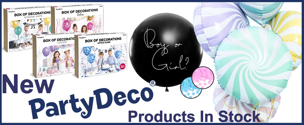 New PartyDeco Products Now In Stock