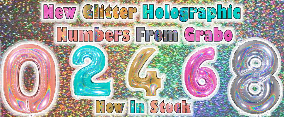 New Grabo Glitter Holographic Numbers Click Here To Order