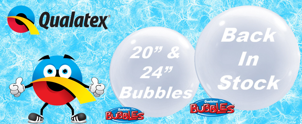 "Qualatex 20"" & 24"" Deco Bubbles Back In Stock"