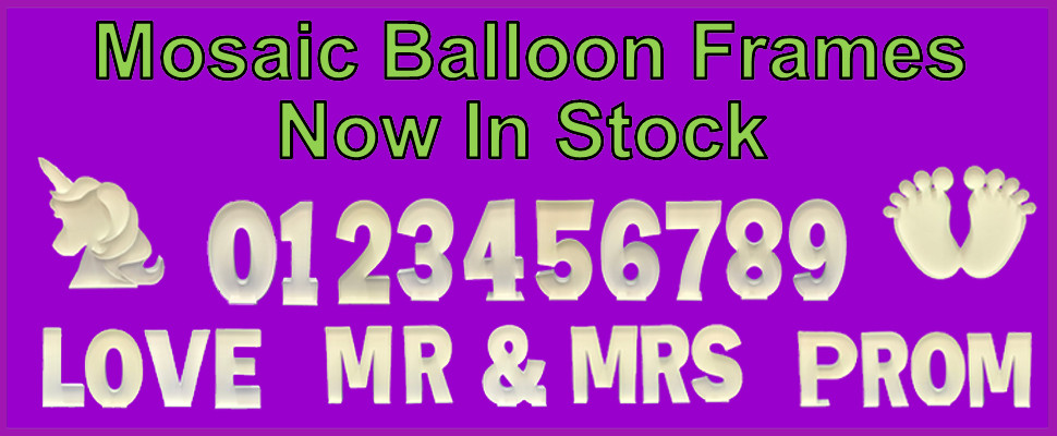 New Mocaic Balloon Frames Now In Stock Click Here To View All