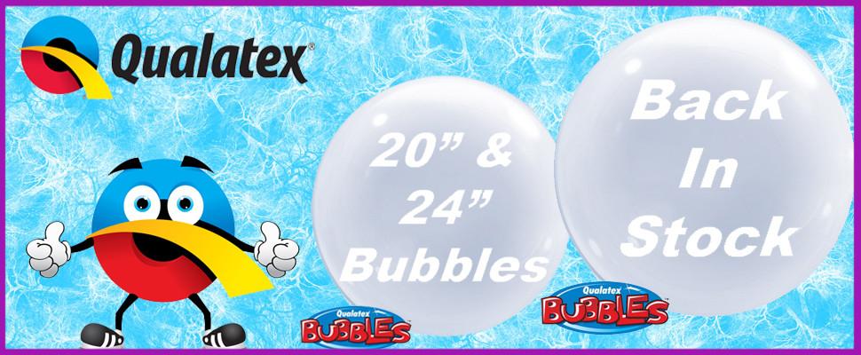 """Qualatex 20"""" & 24"""" Deco Bubbles Back In Stock"""