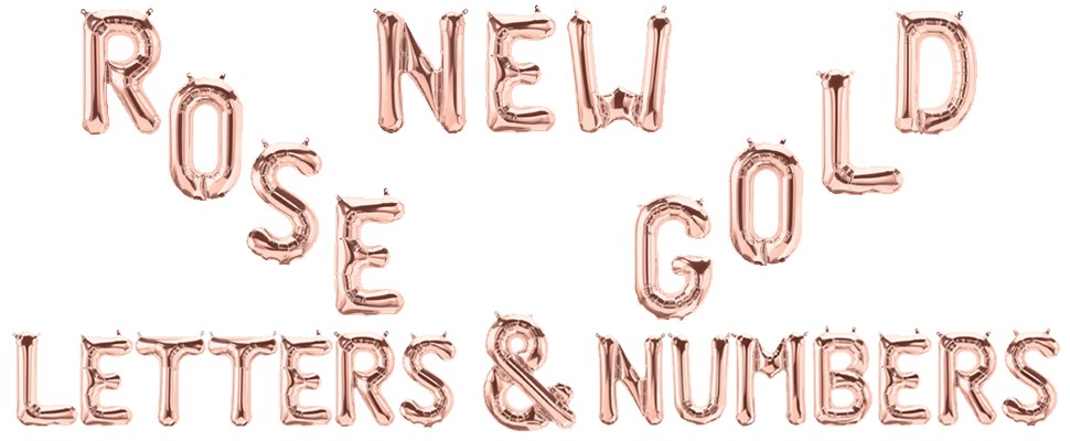 New Rose Gold Letters And Numbers