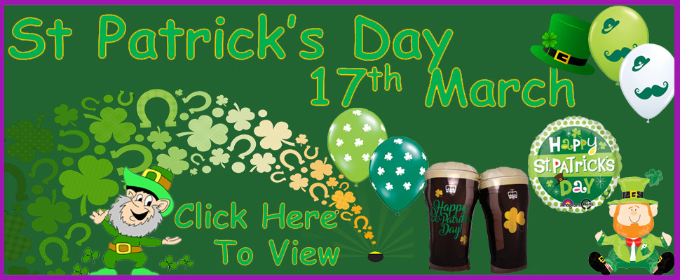 St Patrick's Day 17th March Click Here To View All Products